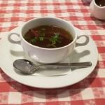 ザ カウボーイハウス - 赤トウガラシとニンニクのスープ