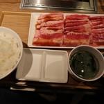 焼肉ライク - 薄切りカルビセット300g1190円
