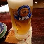 焼鳥マロバシ - 生ビール