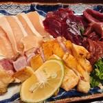 焼鳥マロバシ - 料理写真:さしみ盛り合せ
