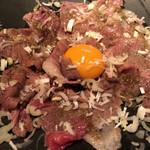 Juntan - 炙り和牛のユッケスタイル