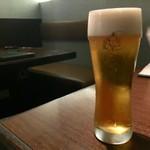 炭火焼肉 ふちおか - 生ビール 650円