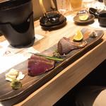 喜助 - 宮城産本ガツオの塩タタキ