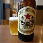 ときわ食堂 - 大瓶「赤星」の5百円は安い