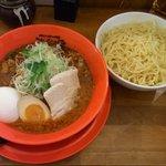 シビれるカラさの旨麺 シビカラ - シビカラつけ麺+麺大盛+温玉