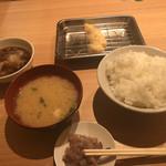 95991067 - 白身魚の天ぷらと定食セット(ご飯普通盛り)