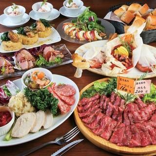 熟成肉タリアータコースは2,980円~全3種☆☆