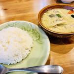 タイレストラン Thian - 次にライスとグリーンカレー