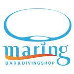 マリング - 当店のロゴマークです。波とダイバーが吐く水中からの泡をイメージ。