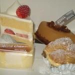 パティスリー マナ - 苺のショートケーキ&バトーマロン&御養卵シュー&マナチーズ