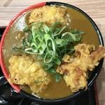 極楽うどん TKU - 鶏天カレー1090円