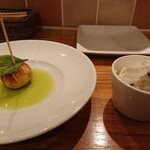 ル・コントワール・ド シャンパン食堂 - フォアグラと鴨&ポテサラ