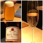 TTOAHISU - 主人は「ビール」、私は「スパークリング」を。