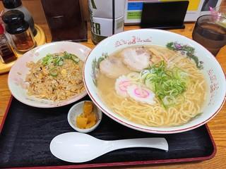 ラーメン幸雅 - 2018年11月 なつ旨ラーメン大盛りと半チャーハン(1040円)