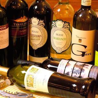 ワイン好きには嬉しい♪充実した品揃え