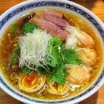 てんくう - 海老塩ワンタン麺(880円)+味たま