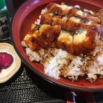 天然魚 鯛平 - 鰻丼