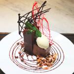 高級ヴァローナのチョコレート・ケーキ
