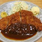 おくだ - 料理写真:ロースカツ定食(¥950)