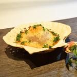 シェフズテーブル リセノワール - ホタテと手長エビのパン粉焼き