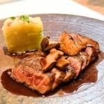 シェフズテーブル リセノワール - 山形牛サーロインのソテー ホワイトバルサミコとぶどうのソース