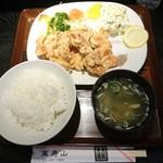 萬寿山 - 鶏肉唐揚定食
