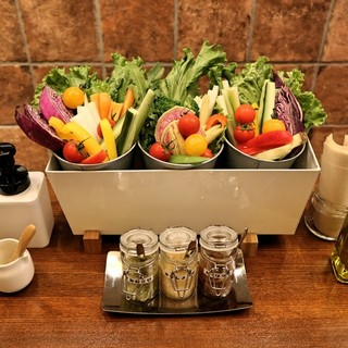 大人気!彩り野菜の収穫ランチ