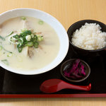 めん処マサムネ屋  - 白湯にんにくチャーシューメン麺定食