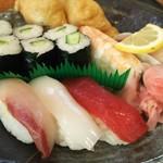 里川海 - 寿司定食  リバースアングル
