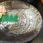 里川海 - 漆接ぎ風の皿