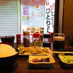 龍2 - 『餃子定食』700円(税込)。
