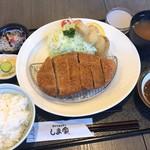 手打とんかつ しま家 - 料理写真:厚切ロースかつ定食 1,530円