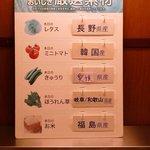 ビッグボーイ - 野菜の産地も表示