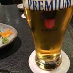 西麻布 しゃぶ玄 - 生ビール(サントリープレミアムモルツ)