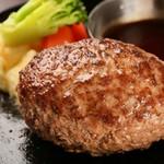 ステーキ×カフェ Clappers House - 料理写真:道産牛のハンバーグ
