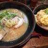 峰味 - 料理写真:胡麻追加 醤油とんこつらーめん 峰味丼 小