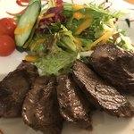 レストラン北海 - エゾシカ肉のカットステーキ定食