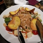 新九 - さつま芋とレンコンチップのシーザーサラダ