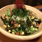 鳥代 - 九条ネギと淡路産玉葱のサラダ
