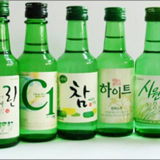種類豊富な韓国酒!ドリンクは+1,000円で飲み放題に◎