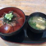 ぱくぱく亭 - 料理写真:とろびんちょう丼(とろびんちょう+赤身) 大盛