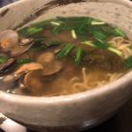 ボンゴレ亭 - ボンゴレそば貝がたくさん入ってます。