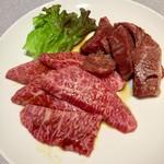 焼肉春日 - 料理写真:和牛カルビ 1,280円・和牛ハラミ 1,480円
