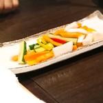 和牛肉バル 錦えもん - ★野菜の酢漬け イマイチ