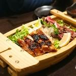 和牛肉バル 錦えもん - ★★★肉盛り合わせ ローストビーフ分厚くて噛みきれない