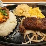ブロンコビリー - 料理写真:炭焼きサーロインステーキ・ガーリックビーフライス