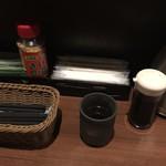 96078774 - 卓上調味料と味付け海苔、ふりかけ