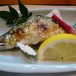 日本料理 野老 - 鮎塩焼き