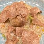 96082738 - 揚げ胡麻豆腐 渡り蟹餡 白トリュフがけ