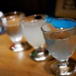 手打ちそば やっ古 - 土曜のお愉しみ=日本酒呑み比べ 1,100円
